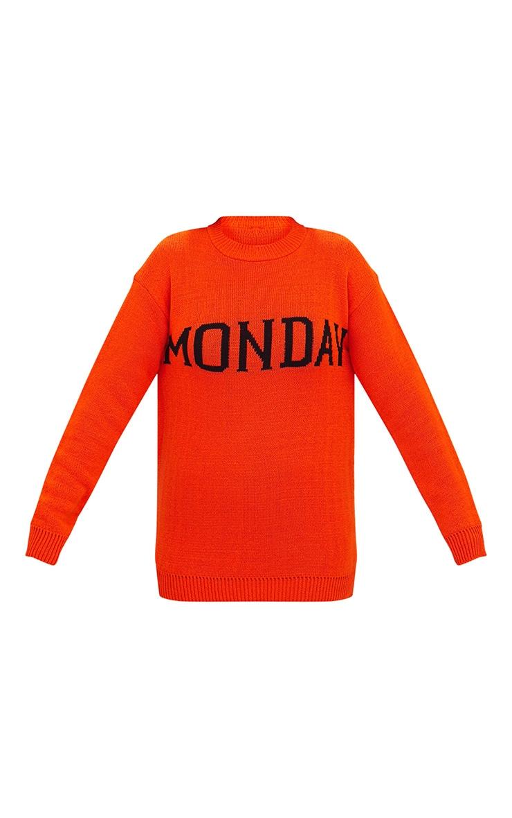 Orange Monday Slogan Jumper 3
