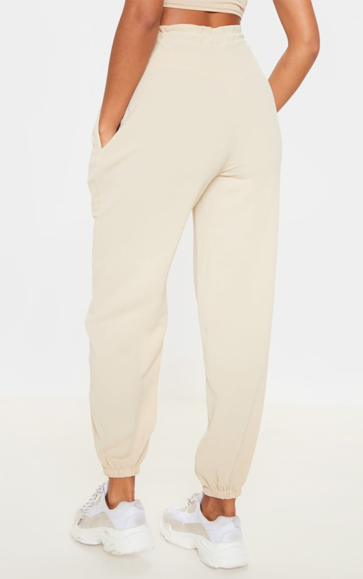 Cream Drawstring Waist Cuffed Trouser 4