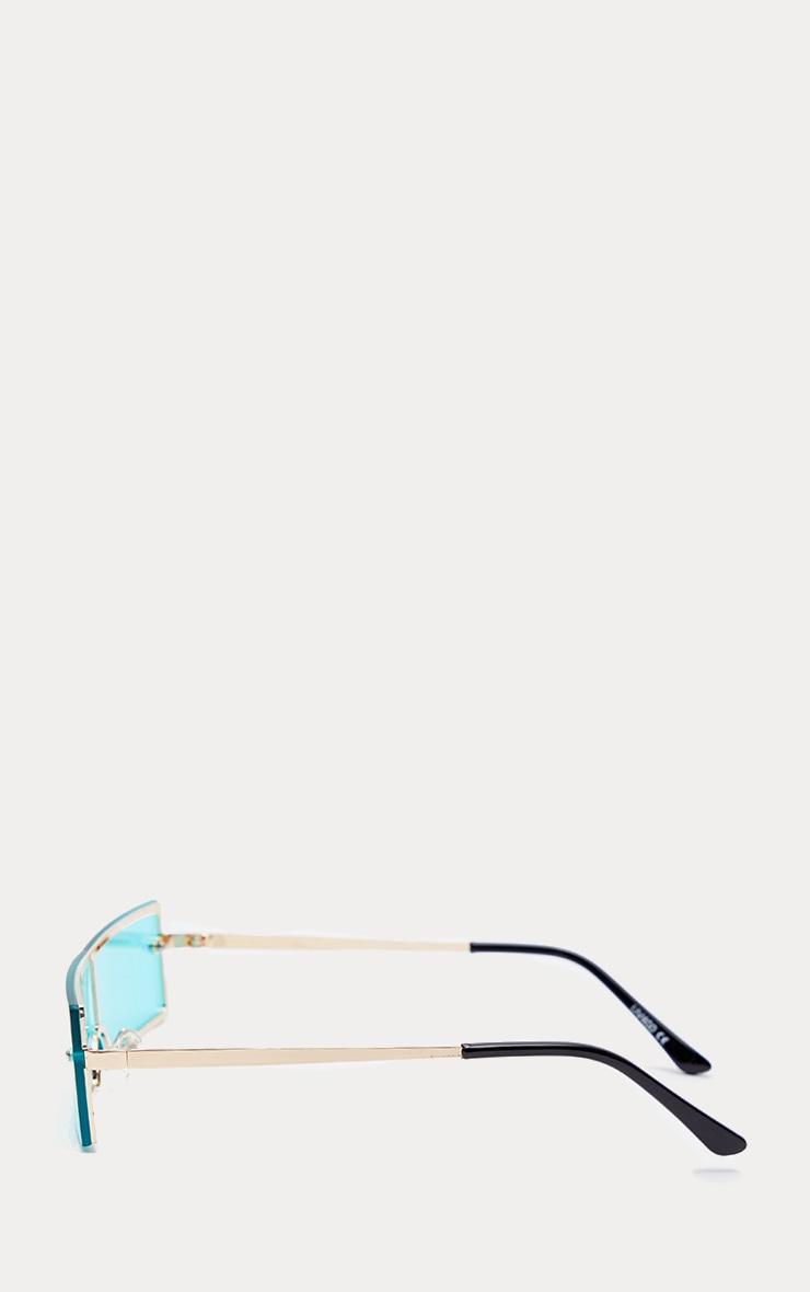 Blue Rectangular Sunglasses 3