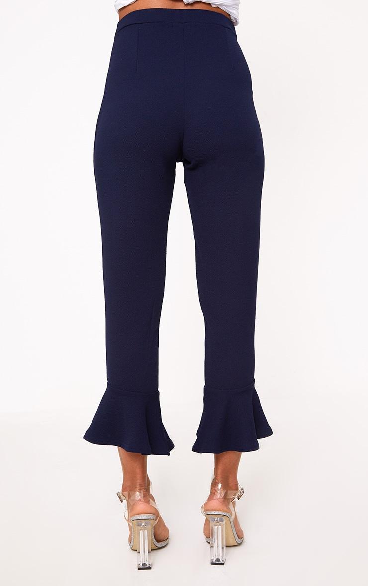 Navy Flare Hem Trouser 4