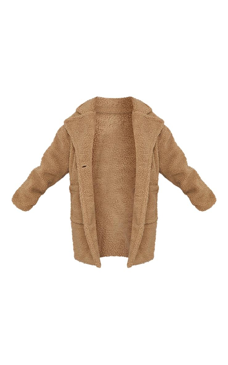 Plus Camel Borg Longline Coat 5