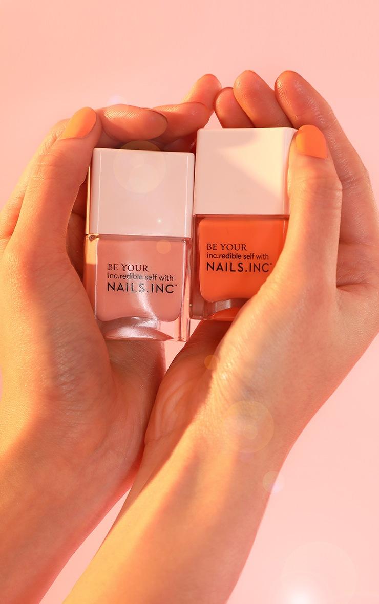 Nails Inc Kiss My Peach Nail Polish Duo 6