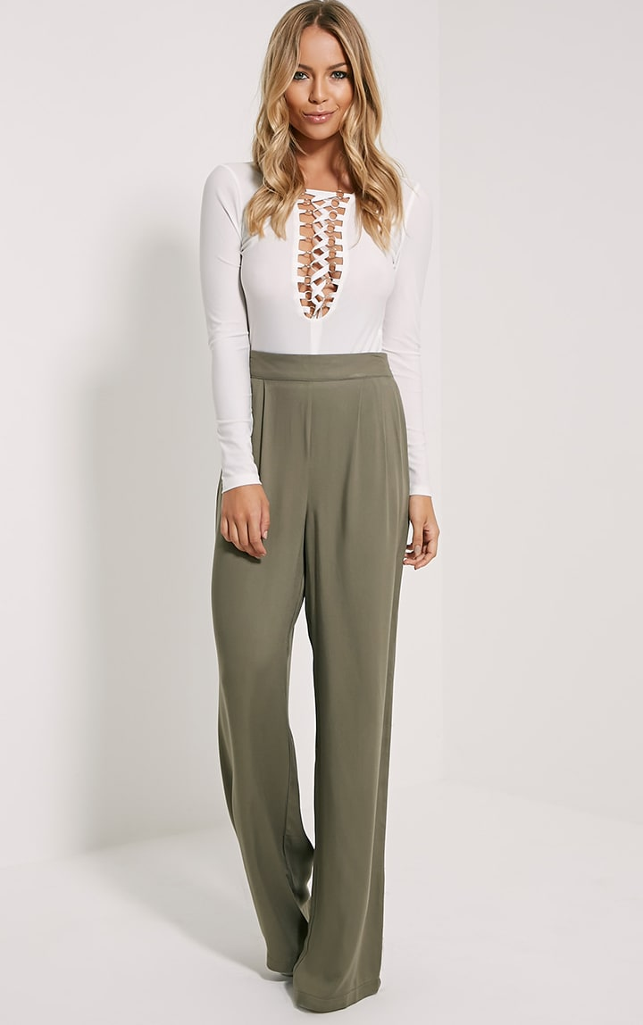 Posey Khaki Relax Fit Trousers 1
