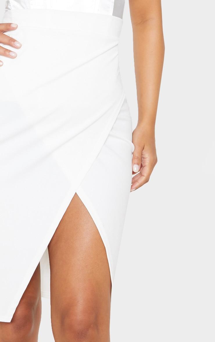 Petite Cream Wrap Pencil Skirt 6