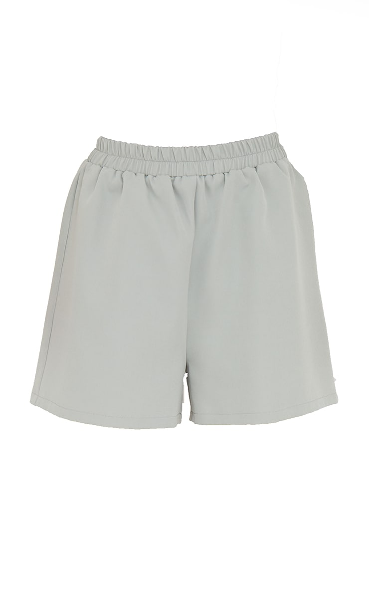 Sage Blue Elasticated Waist Floaty Shorts 6