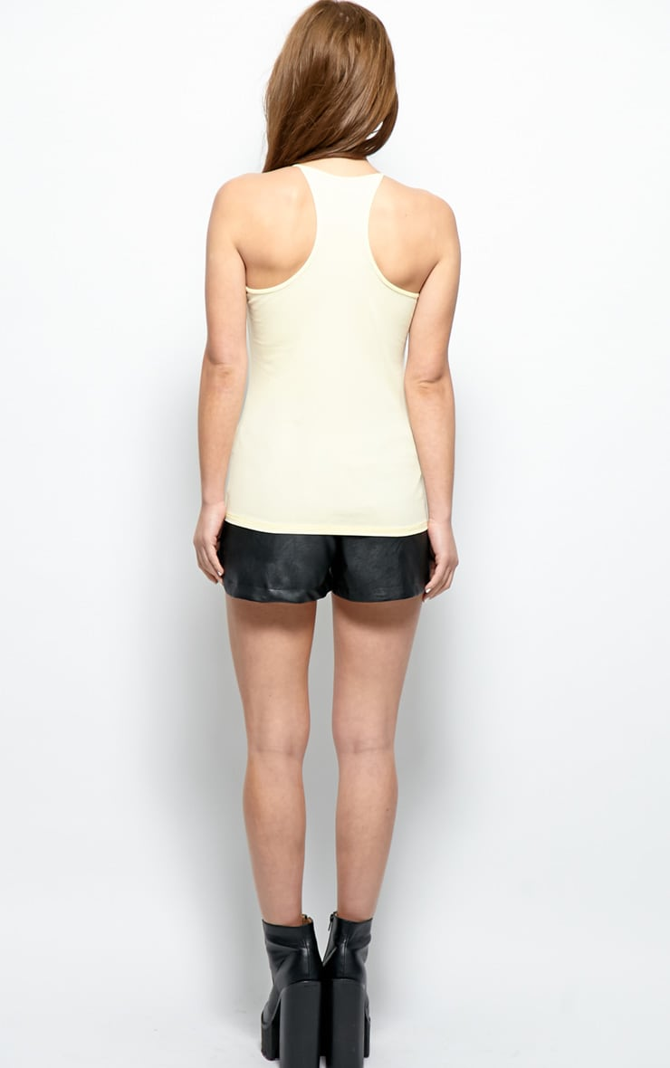 Mollie Yellow Strappy Basics Vest 2