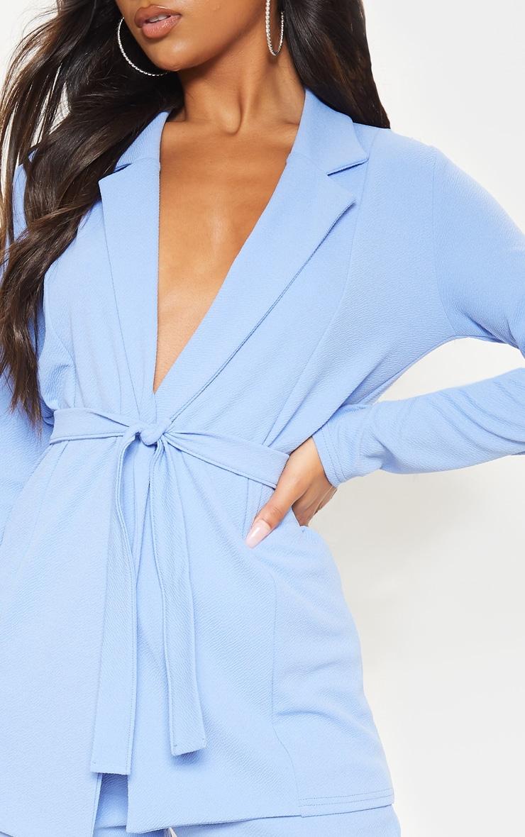 Cornflower Blue Belted Blazer 5