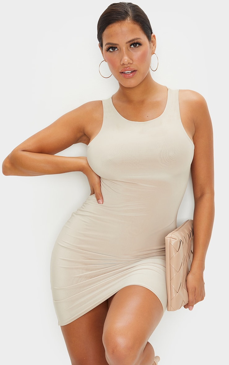 Shape Stone Slinky Sleeveless Bodycon Dress 2