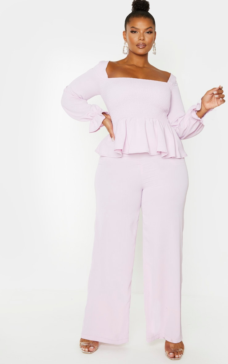 Plus Lilac Extreme Wide Leg Trouser 1