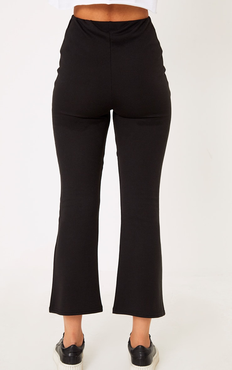 Black Kick Flare Cropped Trousers 4