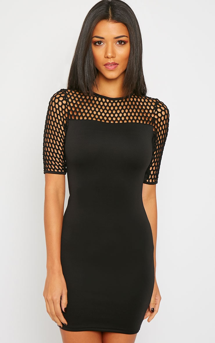 Julienna Black Fish Net Insert Dress 1