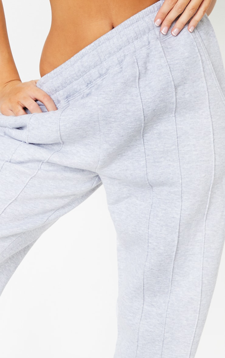Grey Seam Detail Casual Joggers 4