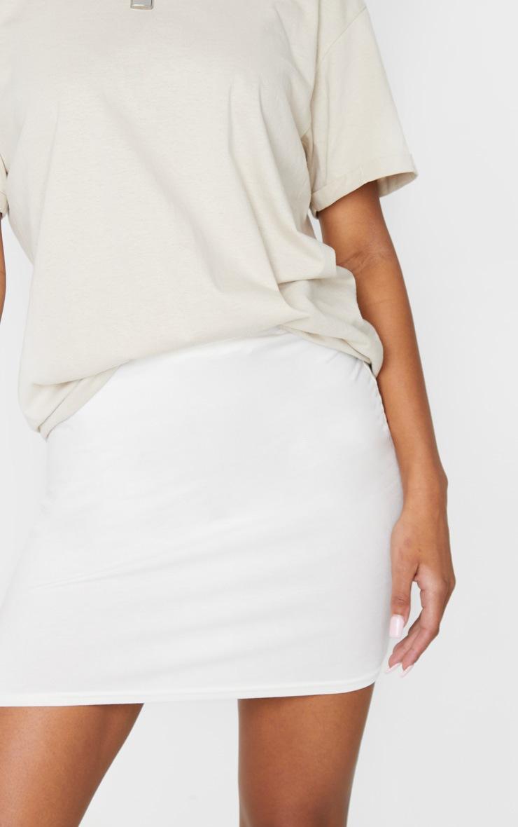 Cream Basic Jersey Mini Skirt 5