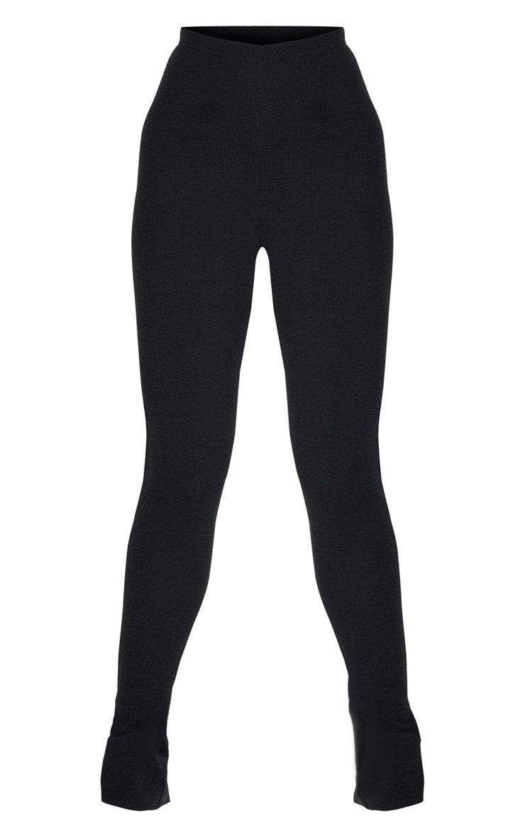 Tall - Legging en maille noir àourlet fendu 5