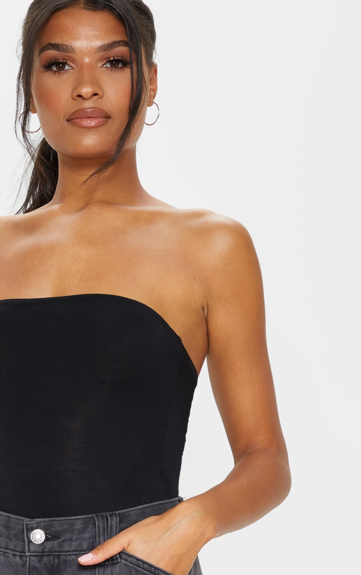Basic Black Bandeau Bodysuit 6