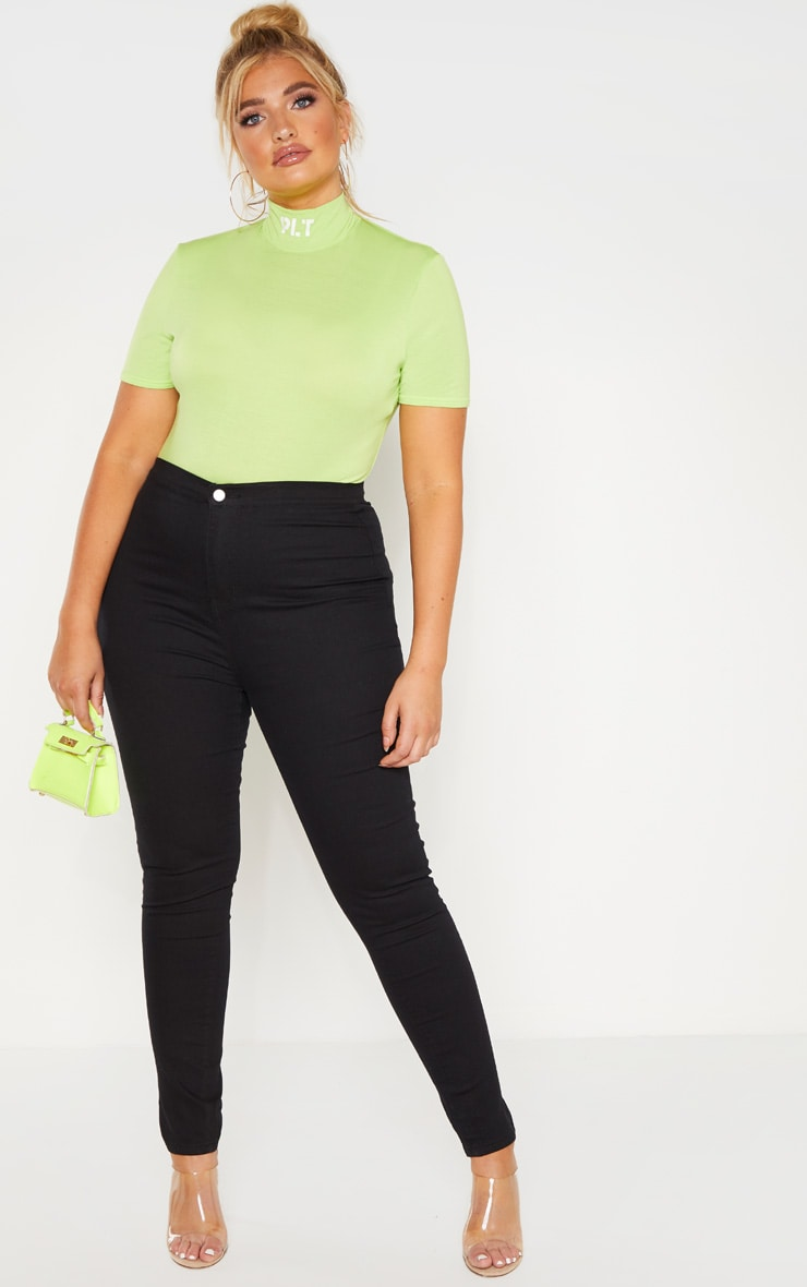 Plus Black Stretch Jegging 1