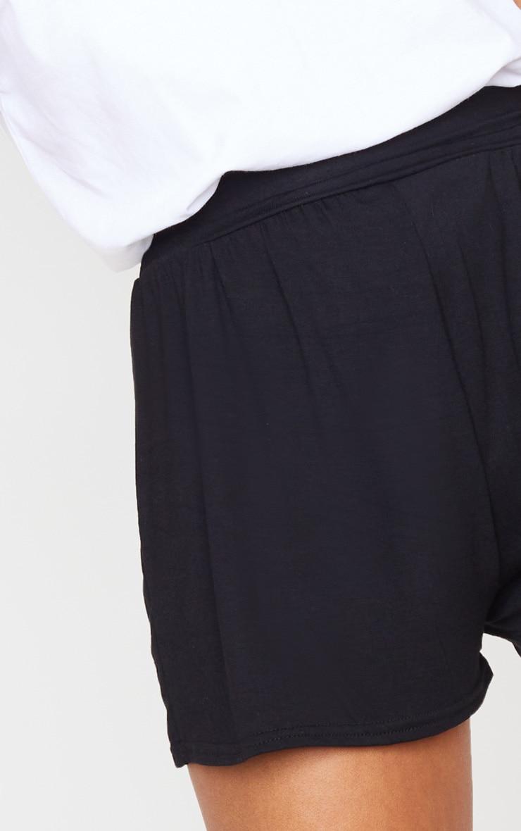 Black Jersey Floaty Shorts 5