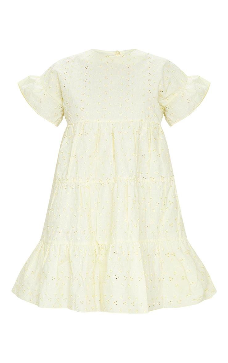 Lemon Broderie Anglaise Smock Dress 5