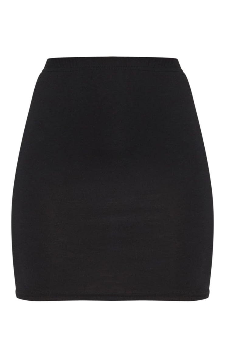 Basic Black Jersey Mini Skirt 3