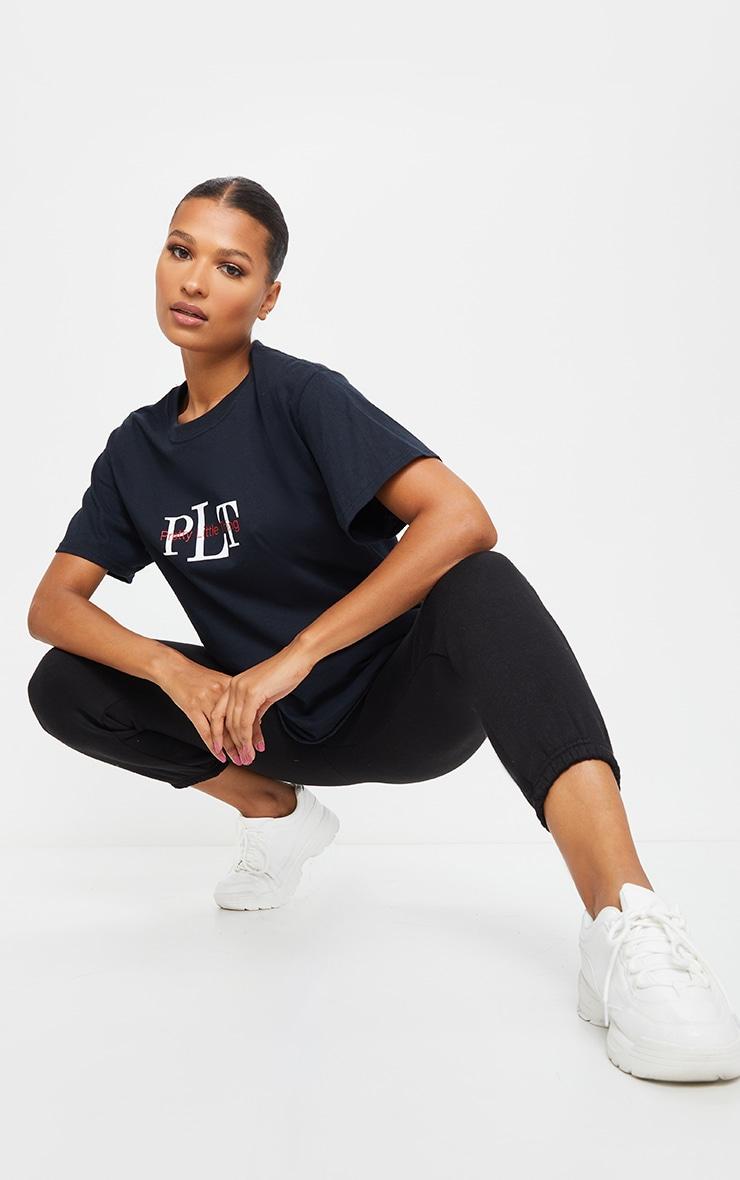 PRETTYLITTLETHING Black Block Text T Shirt 3