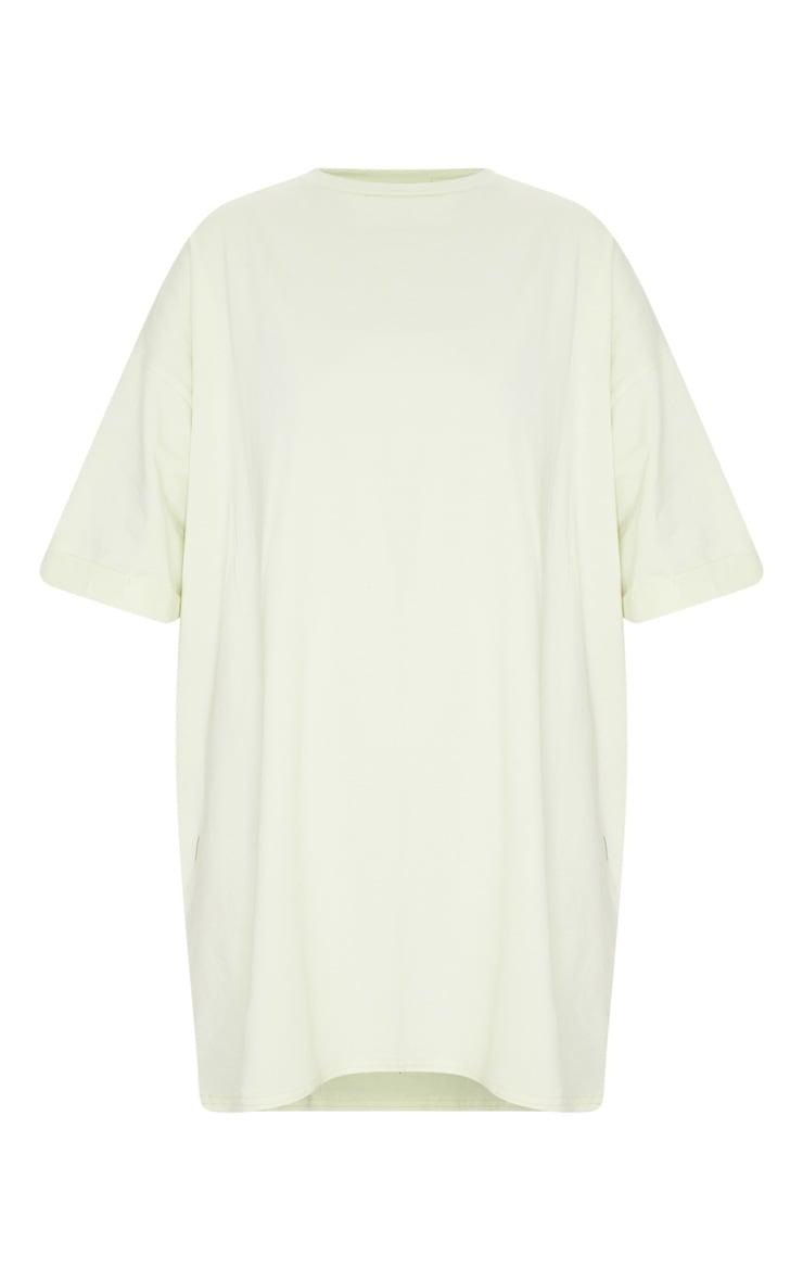 Light Lime Oversized Boyfriend T Shirt Dress 5
