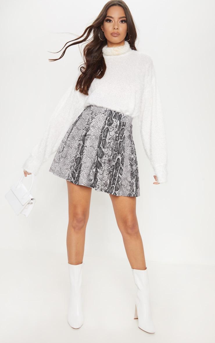 Snake Print Tennis Skirt