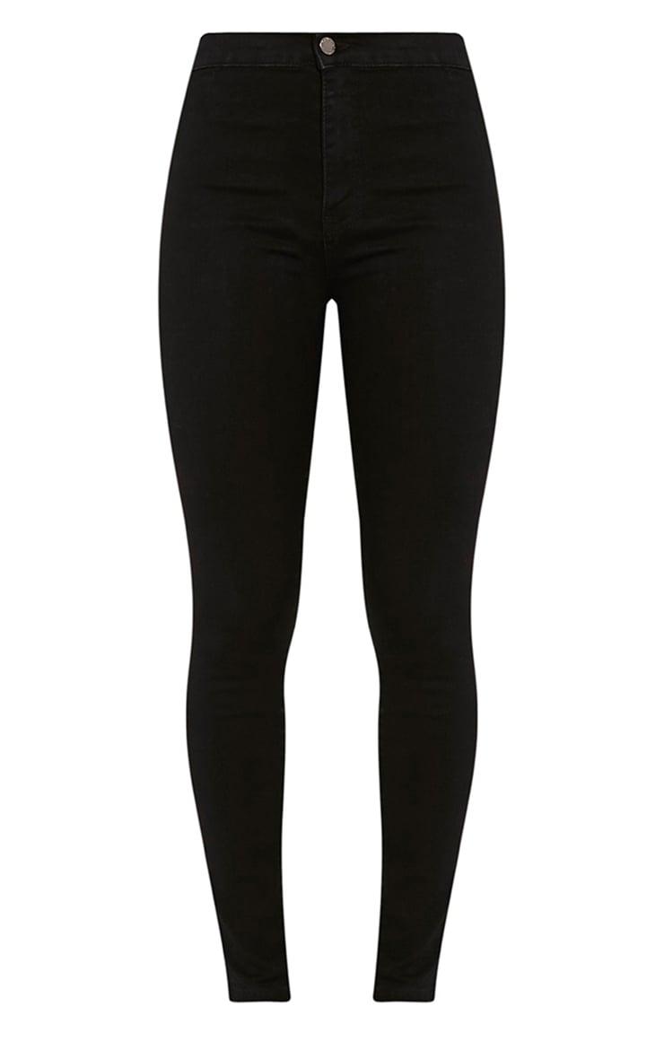 Black Mid Rise Skinny Jeans 3