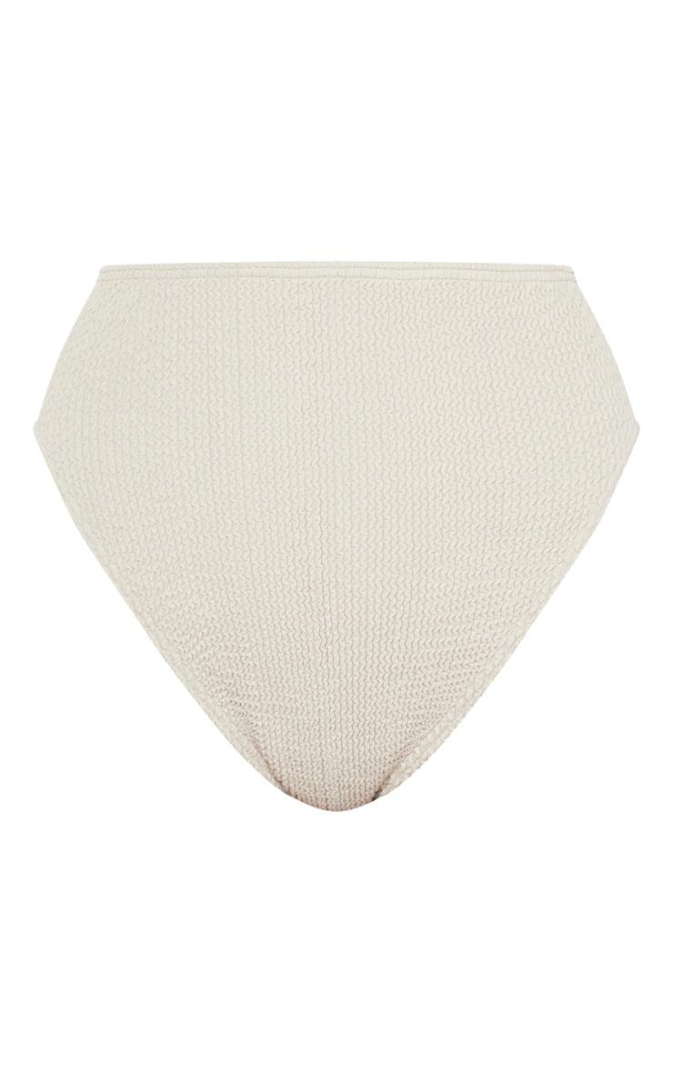 Taupe Crinkle High Waist Bikini Bottom 6