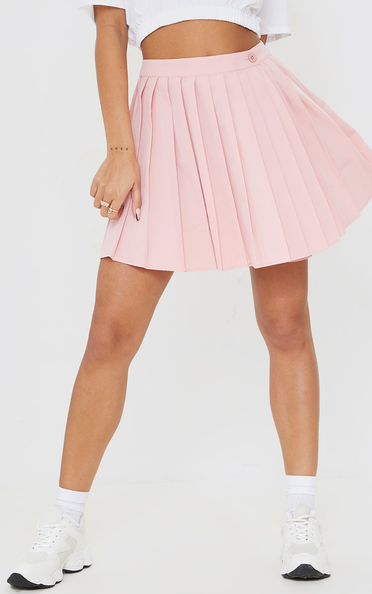 Bubblegum Pink Peach Skater Skirt 2