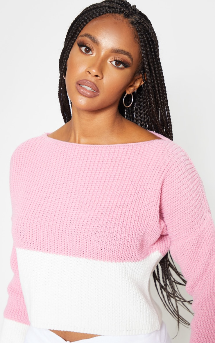 Rose Colour Block Sweater 5