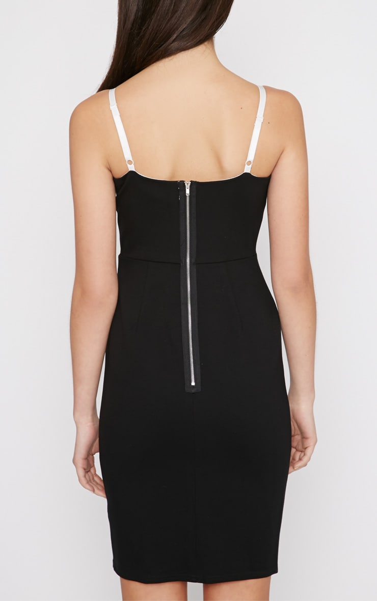 Sasha Black Strappy Bodycon Dress 2