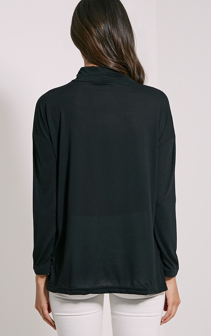 Thora Black Roll Neck Top 2