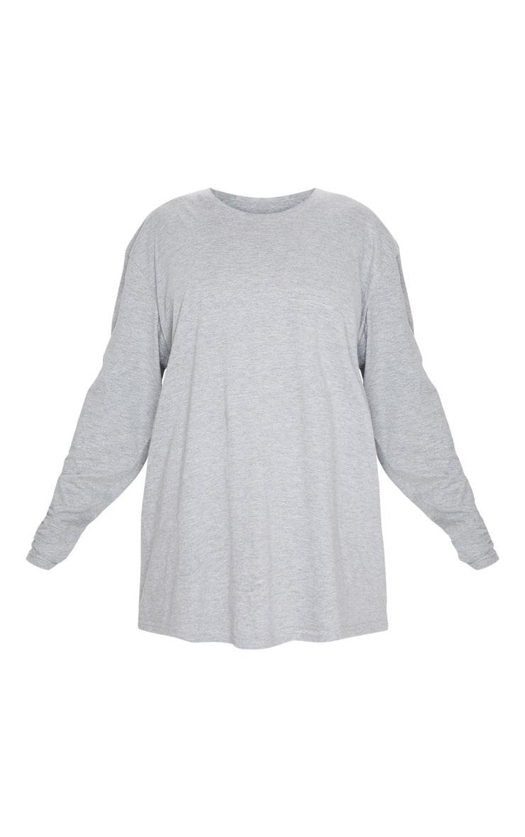 Grey Oversized Boyfriend Long Sleeve T Shirt 5