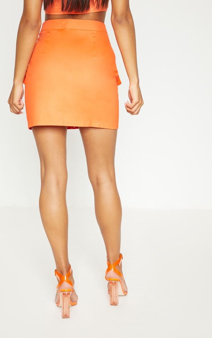 Orange Utility Skirt 5