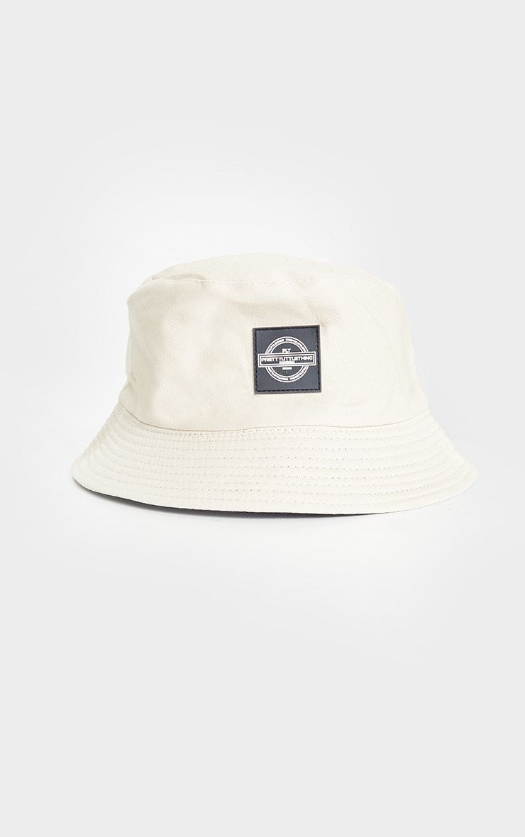 PRETTYLITTLETHING Stone Branded Bucket Hat 2