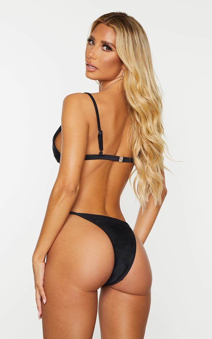 Recycled Black Mix & Match Itsy Bitsy Bikini Top 2