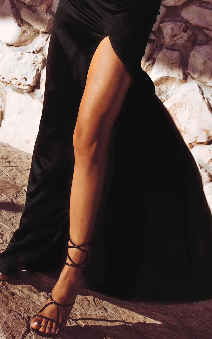 Black Satin Maxi Skirt  5