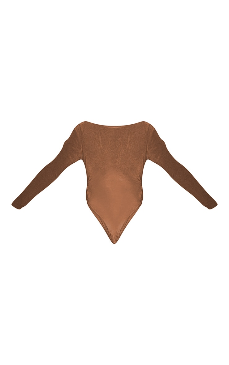 Plus Second Skin Toast Scoop Neck Long Sleeve Bodysuit 6