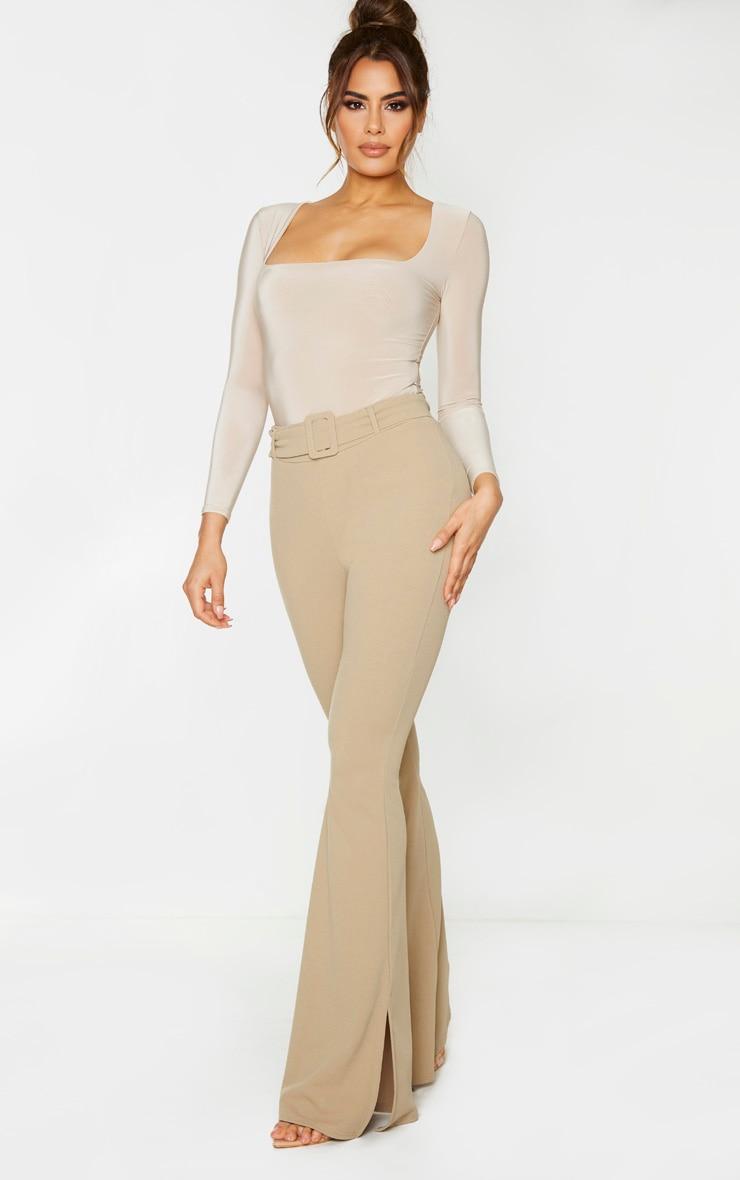 Tall Stone Crepe Belt Detail Pants 1