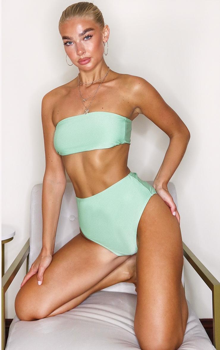Sage Green Mix & Match Bandeau Bikini Top 1