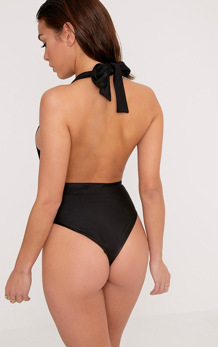Bethanne Black Wrap Around Front Swimsuit 2