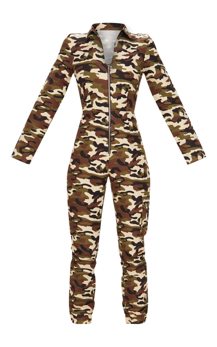 Camo Zip Through Utility Jumpsuit 3