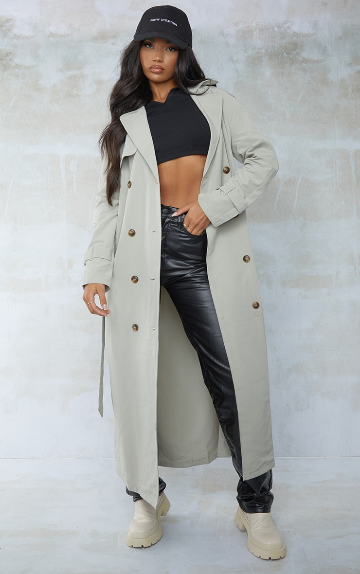 Sage Green Trench Coat 3
