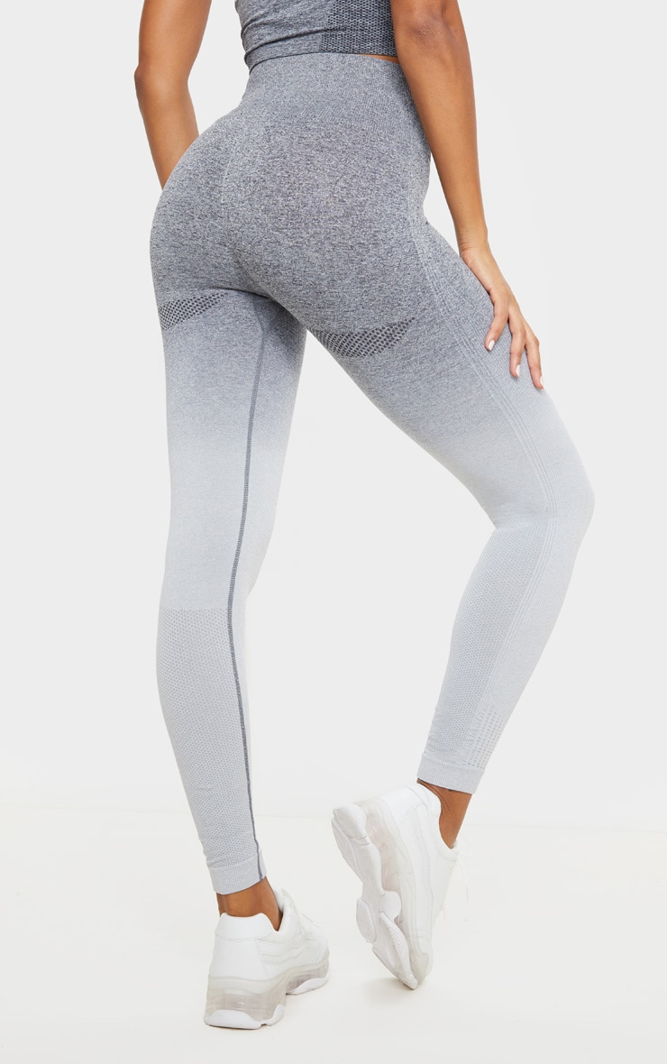 Grey Marl Ombre Seamless Leggings 4