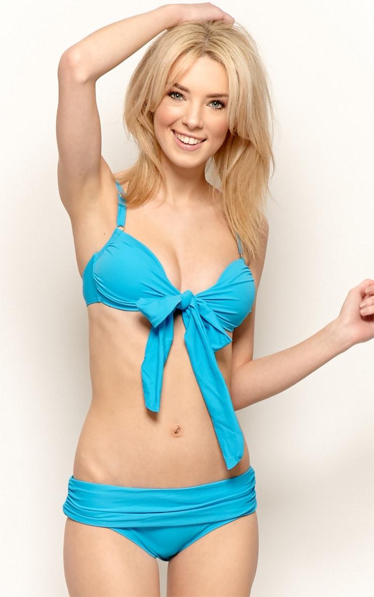Casey Blue Bow Bikini 1