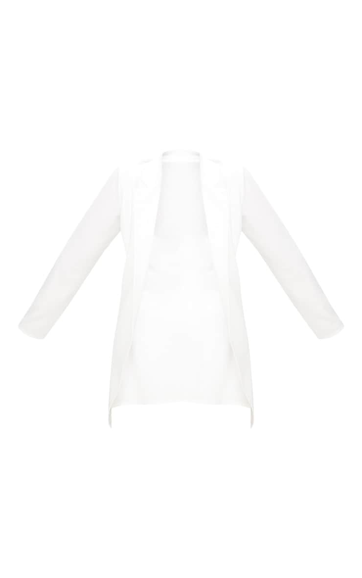 PLT Plus - Blazer long blanc 3