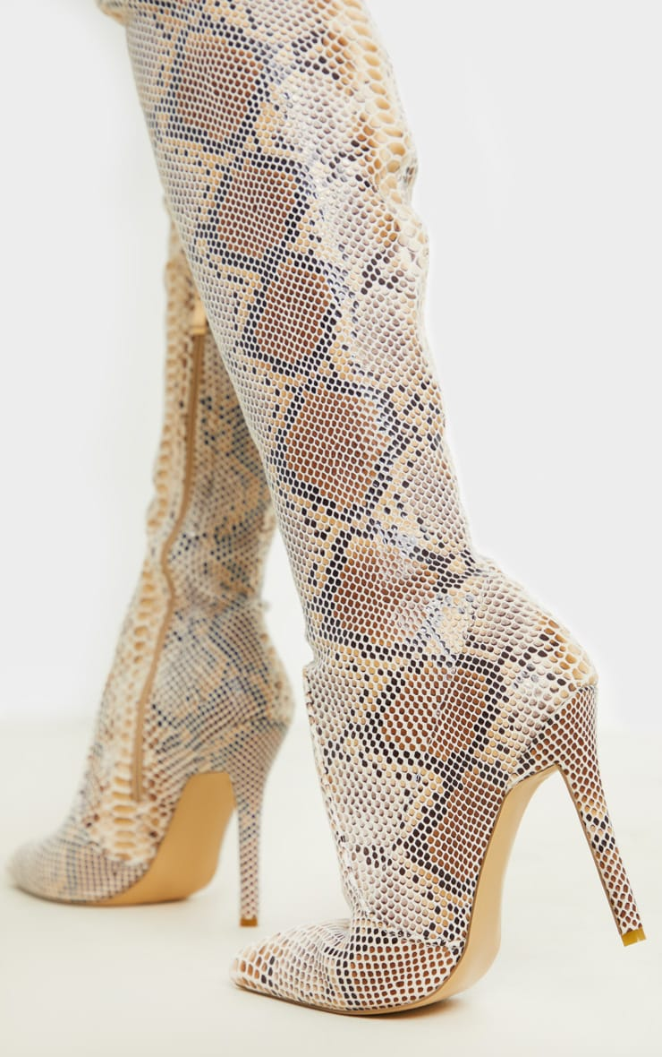 Snake Thigh High Sock Boot 2