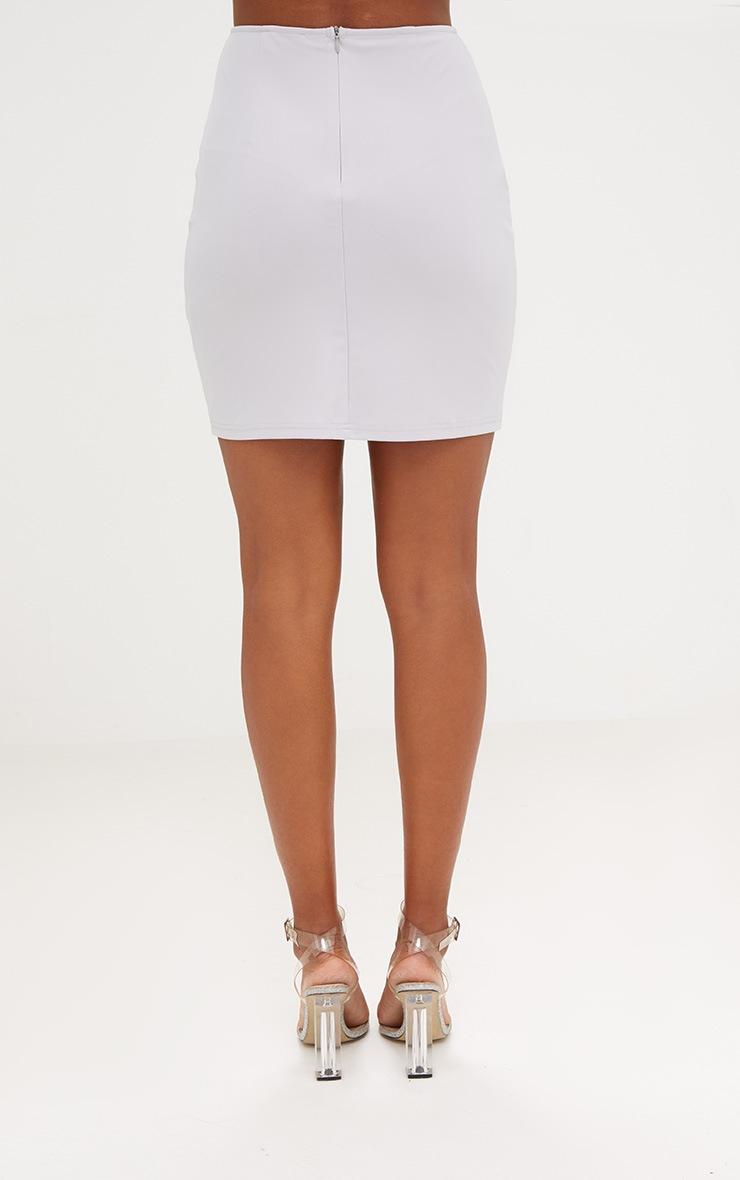 Grey Sequin Panel Skirt 4