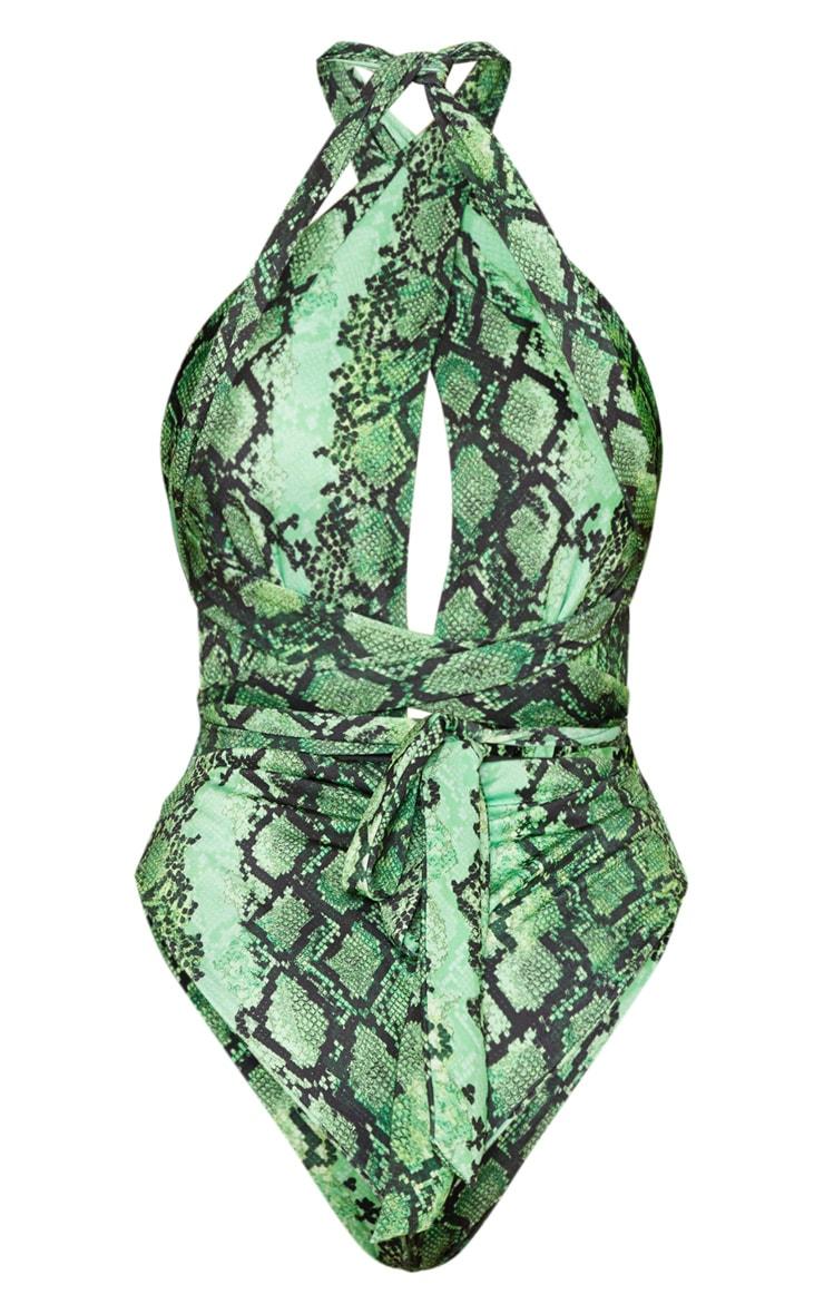 Green Snake Multiway Swimsuit 8