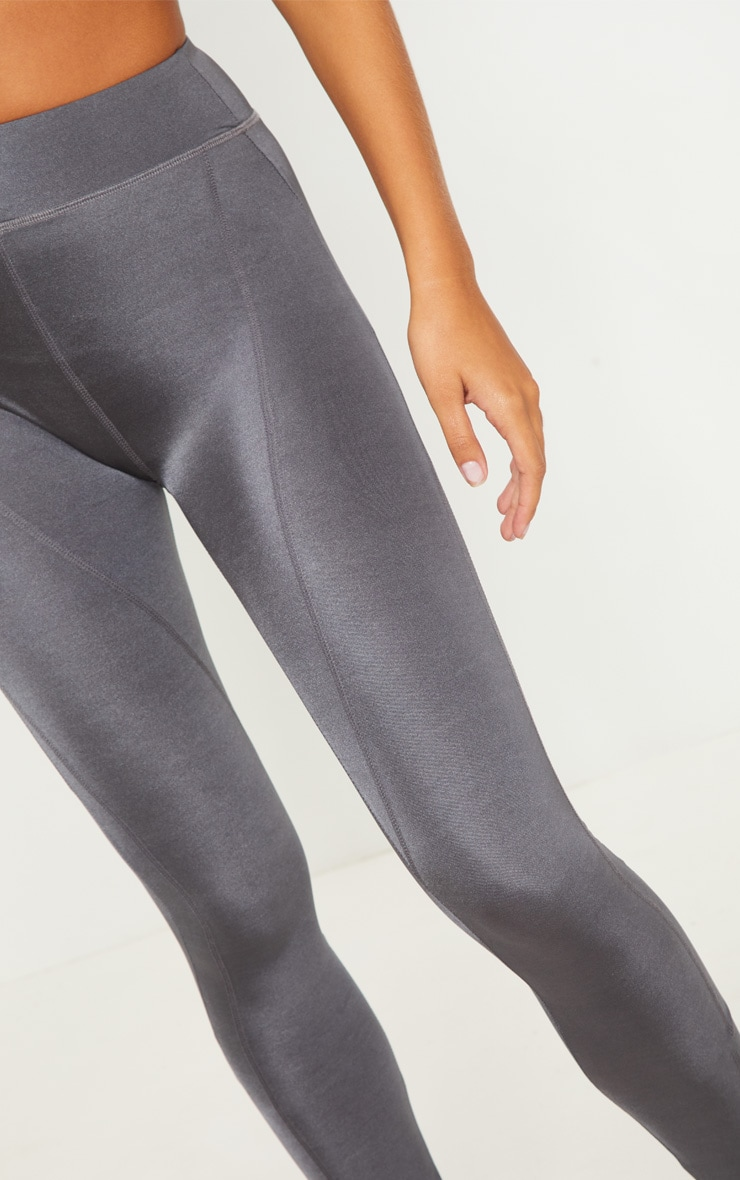 Charcoal High Waisted Sports Legging 5